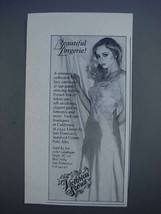 1980 Victoria's Secret Lingerie Ad - $14.99