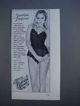 1980 Victoria's Secret Lingerie Ad - Beautiful Lingerie - $14.99