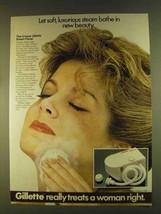 1980 Gillette Steam Facial Ad - Soft, Luxurious - $14.99