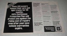 1980 GM Continuous Protection Plan Ad - Many Owners - $14.99