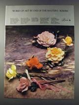 1981 Boehm Ad - Rose of Love, Ivory Bridal Rose - $14.99