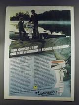 1980 Johnson Sea-Horse 7.5 Outboard Motor Ad - Standard - $14.99