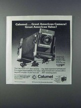1981 Calumet 4x5 View Camera Ad - Great American Camera - $14.99