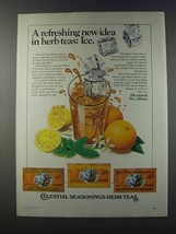 1981 Celestial Seasonings Iced Delight Herb Tea Ad - $14.99