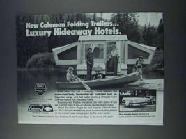 1981 Coleman Folding Trailer Ad - Hideaway Hotels - $14.99