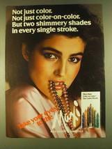 1980 Max Factor Maxi Color Eye Lustre Pencils Ad - $14.99