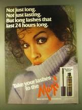 1980 Max Factor Maxi-Lash Mascara Ad - Long Lashes - $14.99