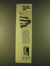 1980 Max Factor StrongHold Nail Wrap Kit Ad - Pity - $14.99