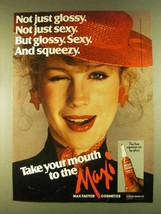 1980 Max Factor Maxi-Gloss Lip Gloss Ad - Sexy Squeezy - $14.99