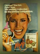 1980 Max Factor Maxi Unshine Make-up Ad - $14.99