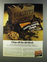 1981 Hershey's Semi-sweet chips Ad - Off the Old Block - $14.99
