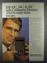 1981 Hewlett-Packard HP-33C, 35C and 38C Calculators Ad - $14.99