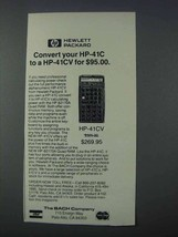 1981 Hewlett-Packard HP-41CV Calculator Ad - Convert - $14.99
