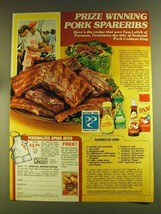 1980 Pam Vegetable Spray & McCormick Spices Ad - $14.99