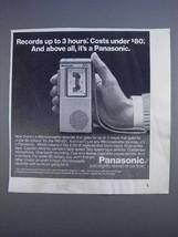 1980 Panasonic RN-001 Microcassette Recorder Ad - $14.99