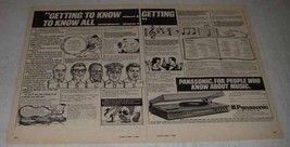 1980 Panasonic SG4000 Slimline 3 in 1 Music Centre Ad - $14.99