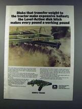 1981 John Deere Level-Action Disk Hitch Ad - $14.99