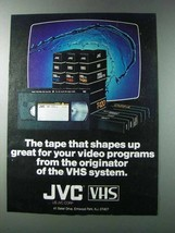 1981 JVC VHS Video Cassettes Ad - Shapes Up - $14.99