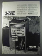 1980 Pioneer Syscom Hi-Fi Ad - Without Hi-Anxiety - $14.99