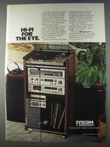 1980 Pioneer Syscom Hi-Fi System Ad - For the Eye - $14.99