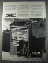 1980 Pioneer Syscom Syscom Hi-Fi System Ad - Simple - $14.99
