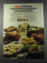 1981 Kellogg's Bran Cereal Ad - Healthy Way Lose Weight - $14.99