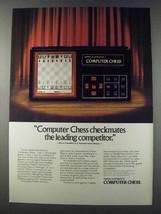 1981 Mattel Electronics Computer Chess Ad - Checkmates - $14.99