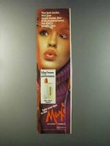 1981 Max Factor Maxi-Moist Lipstick Ad - Not Just Moist - $14.99