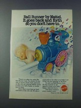 1981 Mattel Rail Runner Train Ad - Goes Back and Forth - $14.99