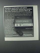 1981 Panasonic Easa-Phone KX-T1525 Answering Machine Ad - $14.99