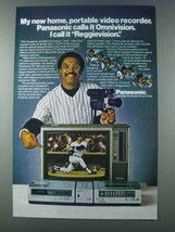1981 Panasonic Omnivision Ad - Reggie Jackson - $14.99