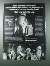 1981 Panasonic Microcassette Recorders Ad - RN-001D - $14.99