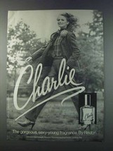 1981 Revlon Charlie Perfume Ad - Gorgeous, Sexy-Young - $14.99