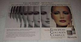 1981 Revlon European Collagen Complex Ad - $14.99