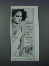 1981 Victoria's Secret Designer Lingerie Ad - NICE - $14.99