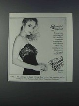 1981 Victoria's Secret Lingerie Ad - Beautiful Lingerie - NICE - $14.99