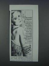 1981 Victoria's Secret Lingerie Ad - Beautiful - NICE - $14.99