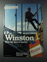 1981 Winston Cigarettes Ad - Nobody Does It Better - $14.99