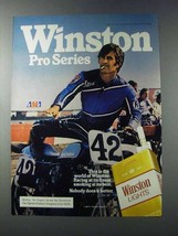1981 Winston Lights Cigarettes Ad - Pro Series - AMA - $14.99