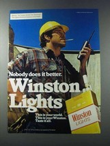 1981 Winston Lights Cigarettes Ad - Nobody Does Better - $14.99