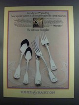 1982 Reed & Barton Winterthur Silverplate Ad - $14.99