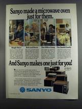 1982 Sanyo EM1100 EM3520 EM3320 EM5400 Microwave Ad - $14.99