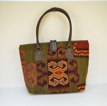 Kilim Bag    Carpet Bag  Boho Backpack   Leather Kilim Bag   leather bag... - $240.00