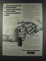 1981 ARCO Oil Ad - Everybody is Right - $14.99