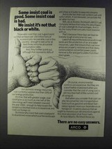 1981 ARCO Oil Ad - It's Not That Black or White - $14.99