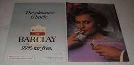 1981 Barclay Cigarettes Ad - $14.99