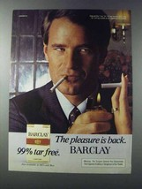1981 Barclay Cigarettes Ad - The Pleasure is Back - $14.99