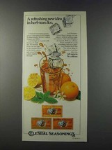 1981 Celestial Seasonings Iced Delight Herb Tea Ad - New Idea - $14.99