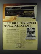 1981 General Electric 2500 Dishwasher Ad - Dull Job - $14.99