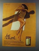 1981 Gillette Just Whistle Razor Ad - $14.99